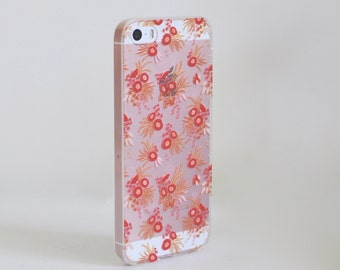 Ochre Floral iPhone Case / Soft TPU Phone Case / Ready to Ship / iPhone 5/5s/SE - iPhone 6/6s - iPhone 6/6s Plus - iPhone 7