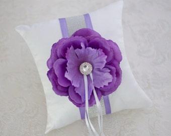 Wedding pillow / ring pillows - lavender