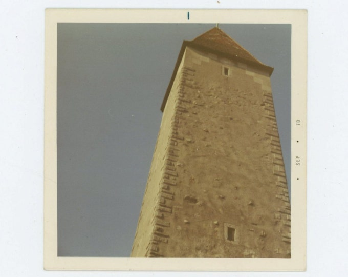 Tower,  9th. Century, Ravensberg, Germany 1970 Vintage Snapshot Photo (66473)