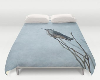 Duvet Comforter Cover Resting Hummingbird