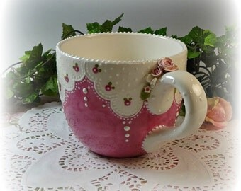 Rose Lace Souper Mug