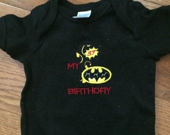 First Birthday Batman bodysuit
