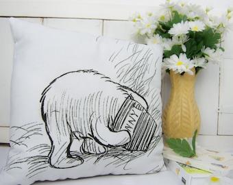 Winnie the Pooh Pillow, Classic Pooh, Winnie the Pooh Nursery Decor, pooh cushion, pooh bear gift