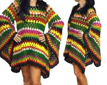 Crochet DRESS * HiPPie-StYle *  XS-M * Tunic