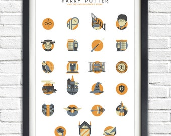 Harry Potter - 1 - The Philosopher's stone - ALTERNATIVE VERSION - 19x13 Poster