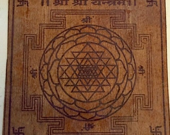 New Sri Chakra Yantra on Bhojpatra - Brahmin Energized - Luck Wealth Protection