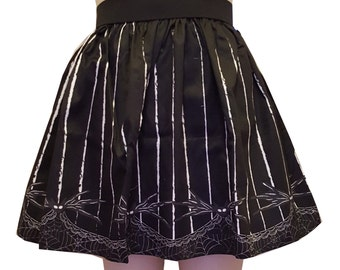 Gothic Striped Lolita Full Skirt