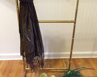 FAUX BAMBOO QUILT Rack, Faux Bamboo Scarf Rack, Faux Bamboo Rack, Hollywood Regency, Chinoiserie at Ageless Alchemy