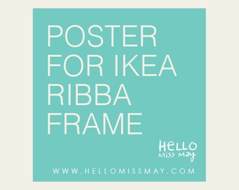 IKEA Frame Custom Size Art Poster : Illustration or Typography Print Of Your Choice