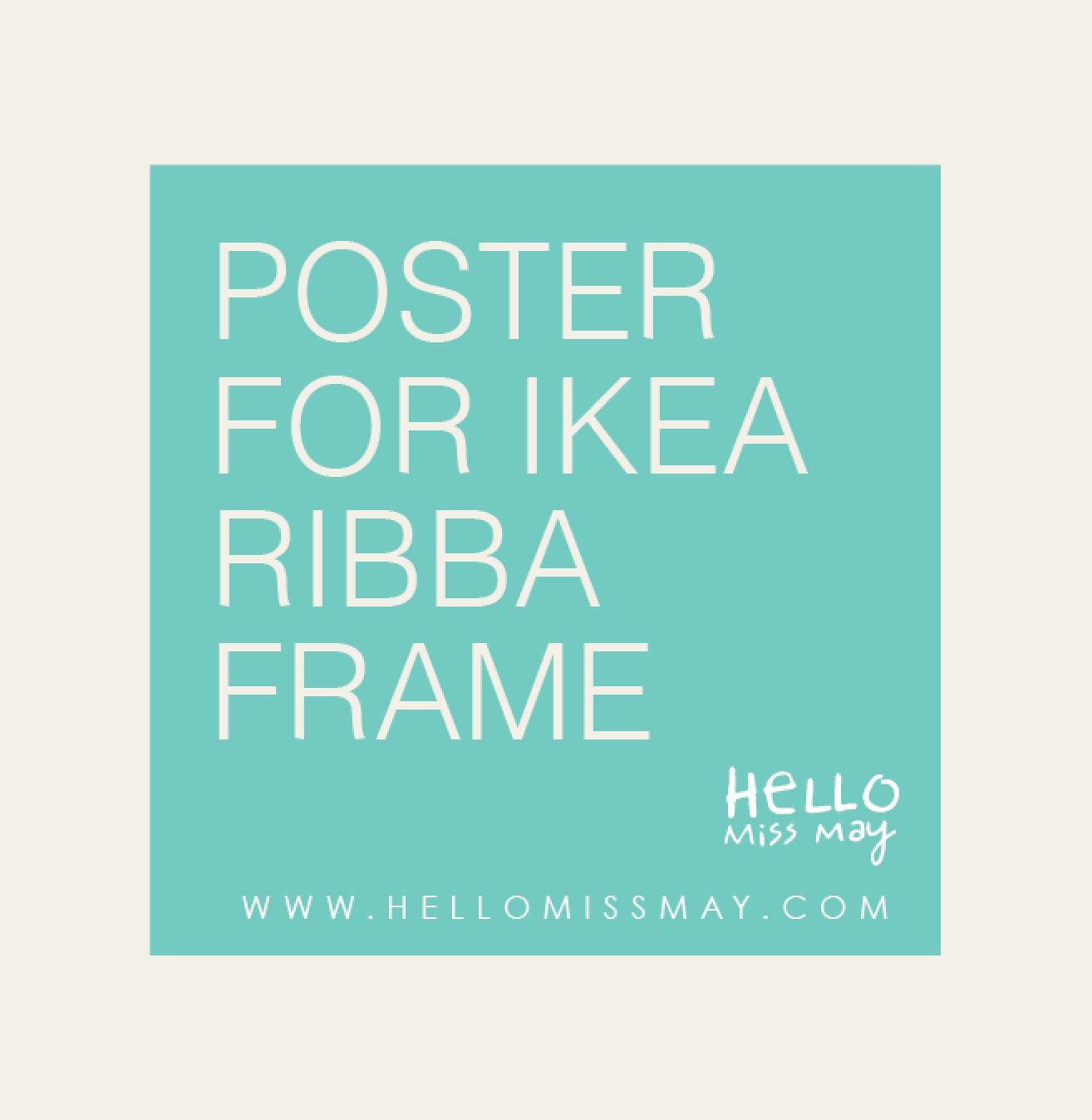 ikea frame custom size art poster illustration or typography print of your choice