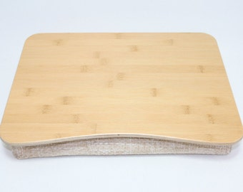 Breakfast Desk / Bamboo Laptop Bed Tray / iPad Table / Pillow Tray / Serving Tray / Laptop Stand Bamboo Natural