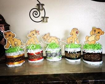 Baby Simba Lion King Diaper Cake Minis  Simba/Lion King Baby Shower/Simba