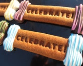 Gourmet Dog Treats - Decorated Dog Celebrate Cookies