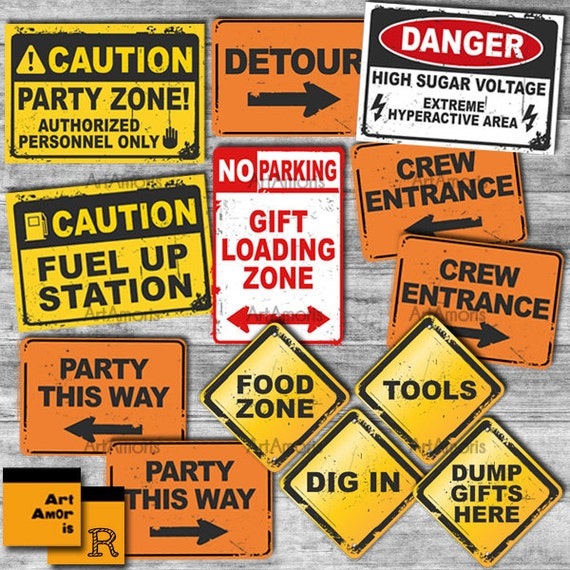 Construction Party Signs Construction Birthday Construction