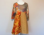 Bohemian Hippie Clothing Women's Junior's Funky Dress Unique Earthy Clothes Upcycled Recycled Repurposed Tunic