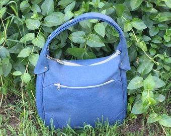 Vintage Blue Samsonite Saturn Travel Bag