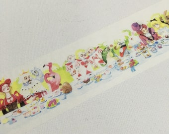 1 Roll Limited Edition Washi Tape: Alice in the wonderland