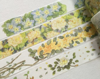 4 Rolls of Limited Edition Washi Tape:  Flower Blossom