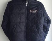 Fila Navy Puffer Coat Youth Small 1990s
