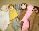 Custom Personalized Animal Cuddle Buddy for Baby and Toddler