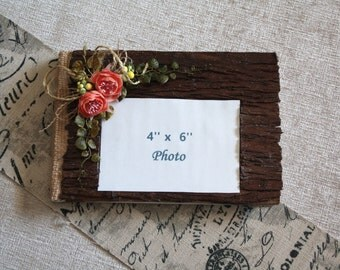 Rustic  wedding guest book/Burlap guest book/Wooden wedding guest book/Wood guestbook/Rustic bridal guestbook/Coral guestbook/READY to SHIP