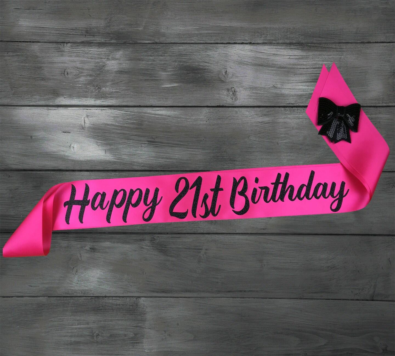 21 Birthday Sash 21st Birthday Birthday Sash By EyesOfDisguise