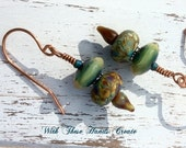 SALE Lunar Garden Lampwork Earrings