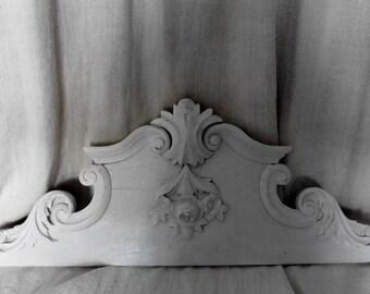 French Vintage, Pediment , Chateau Chic,Paris France, Overdoor, Carved Roses , Paris Apartment Interior Design Annie Sloan Paint