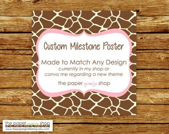 Made to Match Milestone Poster | Made to Match Party Printables | Party Printables Made to Match Any Design in my Shop | Milestone Poster