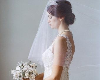 Blush Bridal Veil Blush Drop Veil Cathedral Veil, Bridal Veil Pink Veil Blush Tulle Veil, AMBRELL Rose Quartz Blush Cathedral Veil