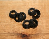 Black Collar Rings, Threaded, 12ct or 24ct for use with 28/400 Soap Dispenser Pumps - Used with Mason Jar Dispensers - White available also