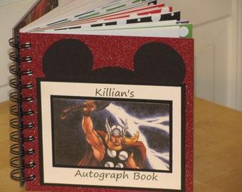 Disney Autograph Book  THOR Scrapbook Vacation Journal Keepsake