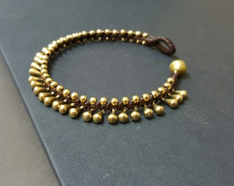 Bohemian Water Drop Brass  Bracelet