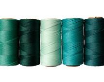 TEAL - Waxed Cord, 50 meters Linhasita Macrame Cord, Bracelet Thread