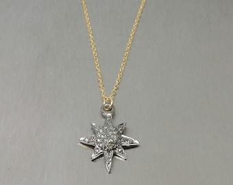 Champagne Diamond North Star Pendant