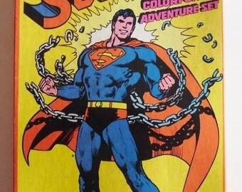 ON SALE Vintage Superman Colorforms Set, 1978, DC Comics, Toy, Adventure Set