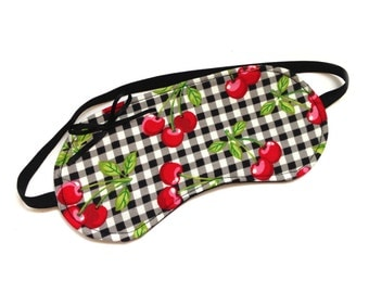 Sleep mask beauty mask rockabilly cherries