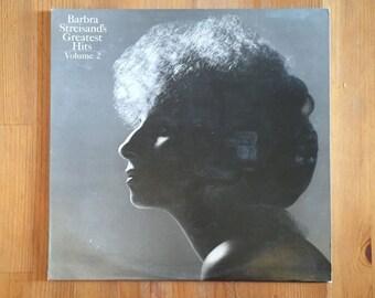 "Barbra Streisand's Greatest Hits Vol. 2 (1978) Vintage Vinyl 12"""