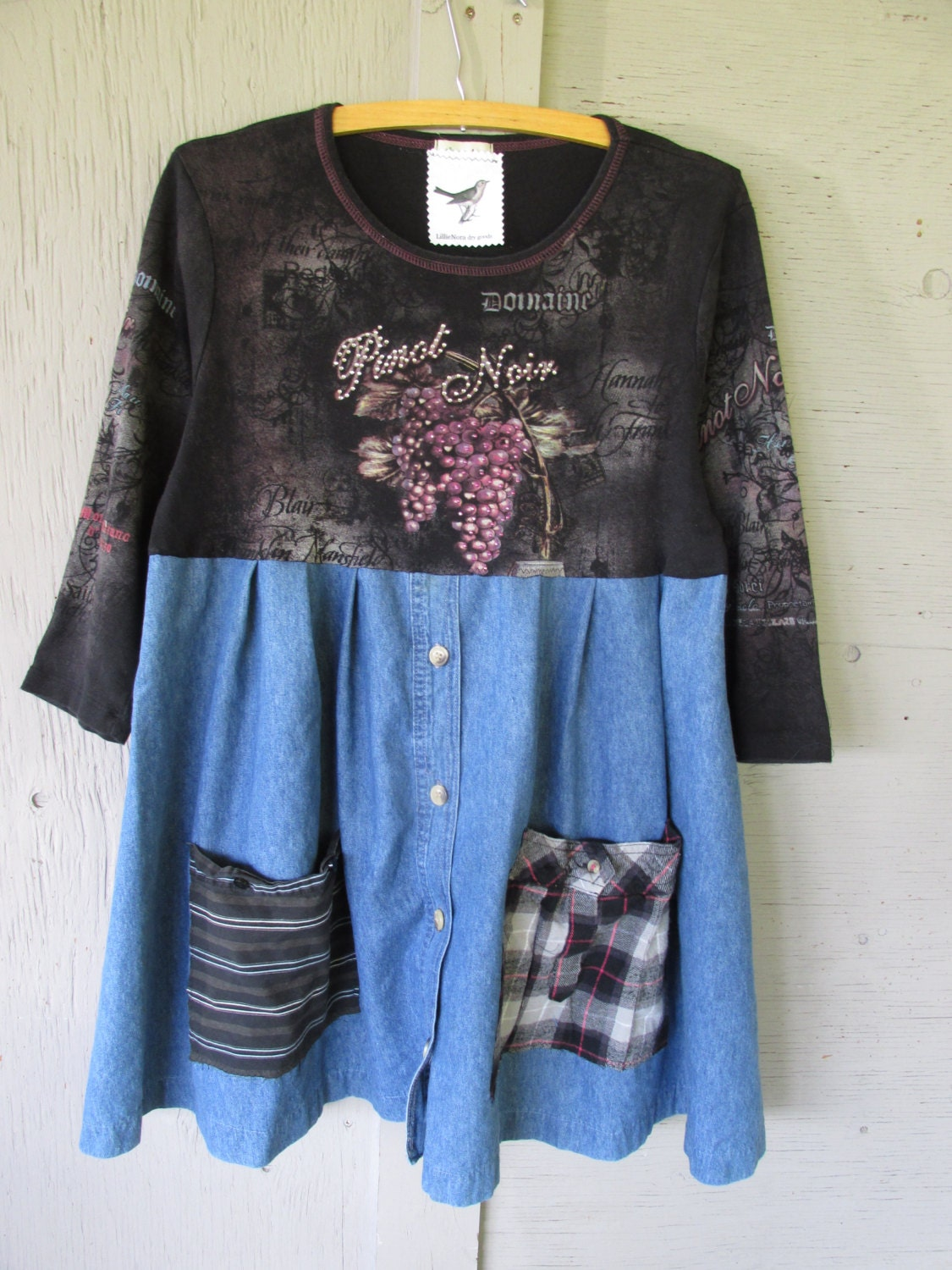 Sale upcycled clothing women's A line tunic by ...