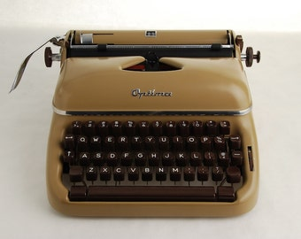 Typewriter Optima Elite brown