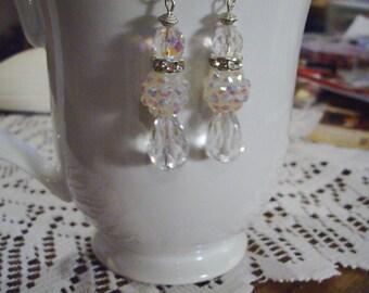 Crystal Wedding Earrings - Free Shipping