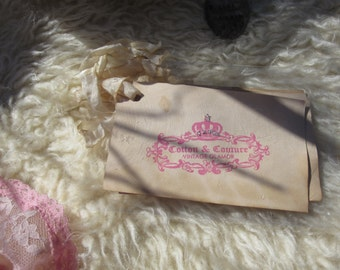 Vintage Inspired Tea Washed Cotton & Couture Hanger Tags