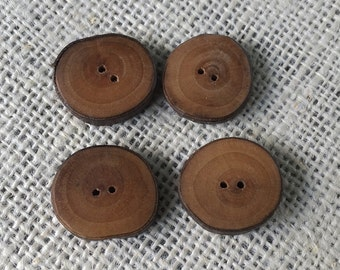 Rustic Wood Buttons, Handmade, Natural Branch Buttons