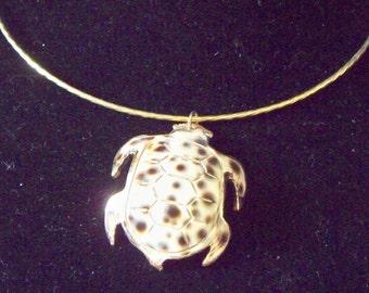 Porcelain Turtle and Golden Choker