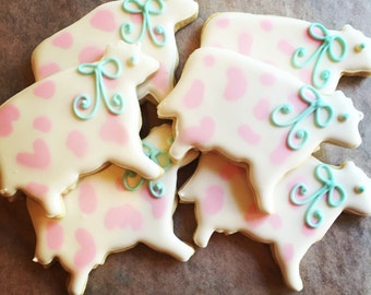 Farm Animal Decorated Sugar Cookies- 1 Dozen