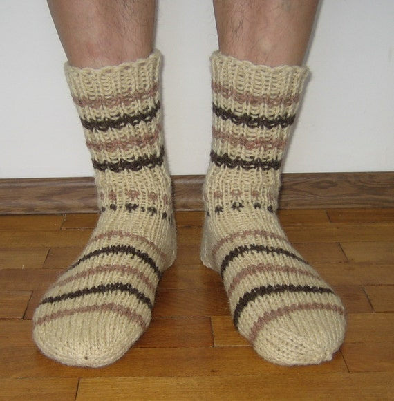 Knitted wool Socks Men's size // Wool socks men