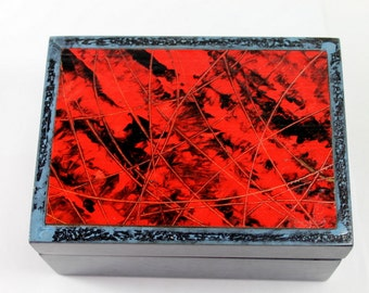 Small Jewelry Box in blue and red