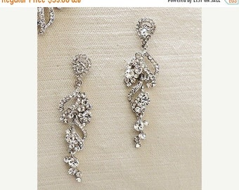 SALE - Bridal chandelier earrings, wedding jewelry, rhinestone chandelier earrings, bridal jewelry, Crystal earrings wedding earrings