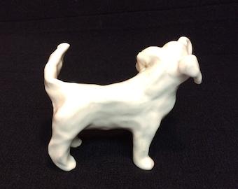 White Folk Art Ceramic Retriever