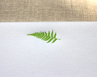 Cotton Writing Paper with Letterpress Fern